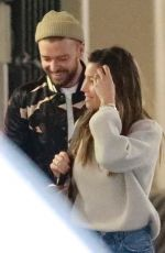 JESSICA BIEL and Justin Timberlake Out in Brentwood 11/30/2017