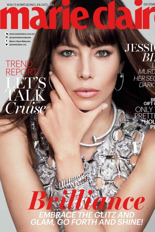 JESSICA BIEL in Marie Claire Magazine, Malaysia December 2017