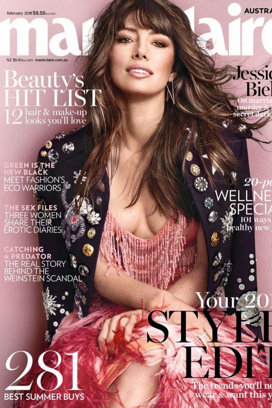 JESSICA BIEL on the Cover of Marie Claire Magazine, Australia February 2017