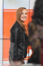 JESSICA CHASTAIN on the Set of Today Show in New York 12/15/2017