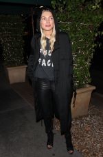 JESSICA HART Out for Dinner at Madeo in West Hollywood 12/20/2017
