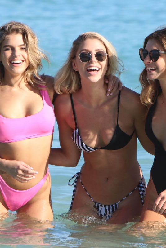 JESSICA MARTIN, JACQUELYN NOELLE and ALANA PAOLUCCI in Bikinis at a Beach in Miami 12/12/2017