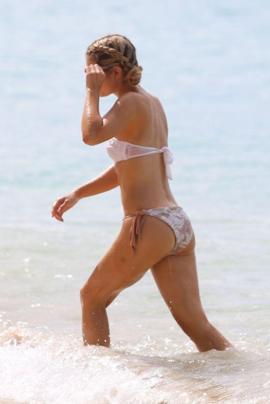 JESSICA ROSE MOOR in Bikini at a Beach in Barbados 12/18/2017