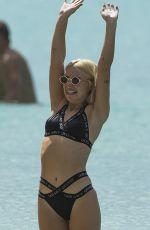 JESSICA WOODLEY in Bikini at a Beach in Barbados 12/13/2017