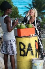 JESSICA WOODLEY Out at a Beach in Barbados 12/20/2017