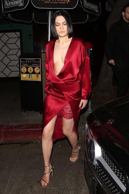 JESSIE J Leaves Peppermint Club in Los Angeles 12/17/2017
