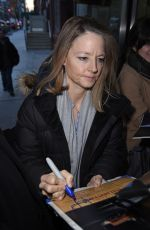 JODIE FOSTER Arrives at This Morning Studio in New York 12/11/2017