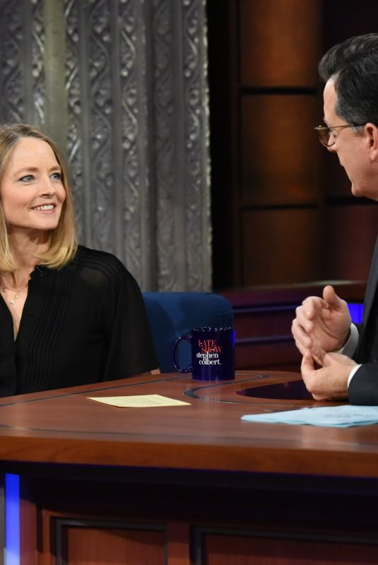 JODIE FOSTER at Late Show with Stephen Colbert 12/15/2017