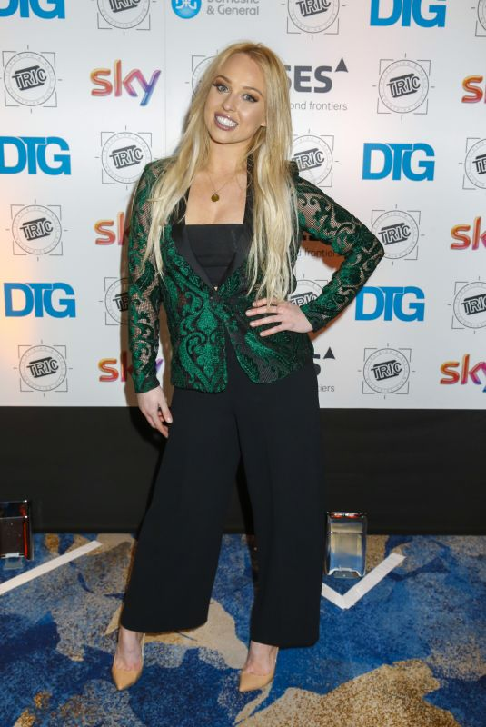 JORGIE PORTER at Tric Awards Christmas Lunch in London 12/12/2017