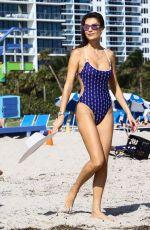 JULIA PEREIRA in Swimsuits and Bikinis on the Beach in Miami 12/02/2017