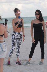 JULIA PEREIRA on the Set of Brazilian Rede TV Web Channel in Miami 12/01/2017