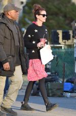 JULIA ROBERTS on the Set of Ben is Back in New York 12/20/2017