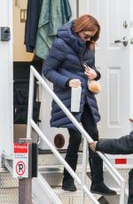 JULIA ROBERTS on the Set of Ben is Back in Westchester 12/18/2017