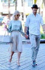JULIANNE HOUGH and Brooks Laich Leaves Church Services on Christmas Eve in Los Angeles 12/24/2017