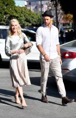 JULIANNE HOUGH and Brooks Laich Out for Lunch in Los Angeles 12/30/2017