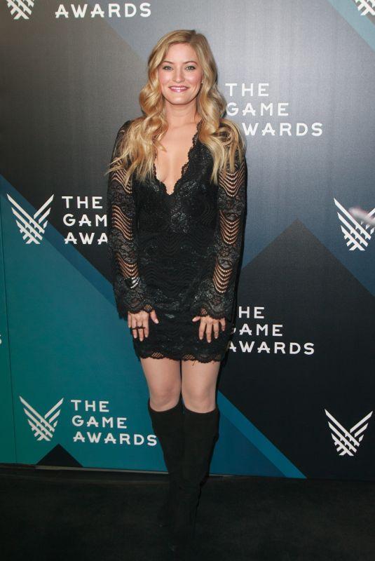 JUSTINE EZARIK at The Game Awards 2017 at Microsoft Theater in Los Angeles 12/07/2017