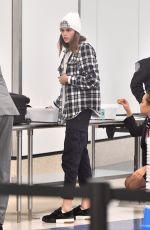 KAIA GERBER at Los Angeles International Airport 12/02/2017