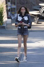 KAIA GERBER in Cropped Jeans Jacket and Denim Shorts Out in Malibu 12/19/2017