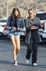 KAIA GERBER in Denim Shorts Out for Breakfast in Malibu 12/16/2017