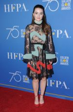 KAITLYN DEVER at HFPA 75th Anniversary Celebration and NBC Golden Globe Special Screening in Hollywood 12/08/2017