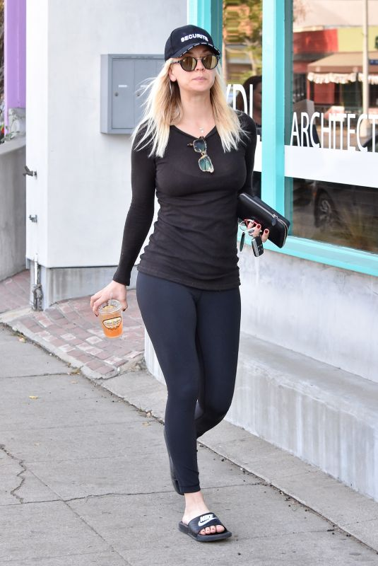 KALEY CUOCO in Tights Out in Los Angeles 12/11/2017