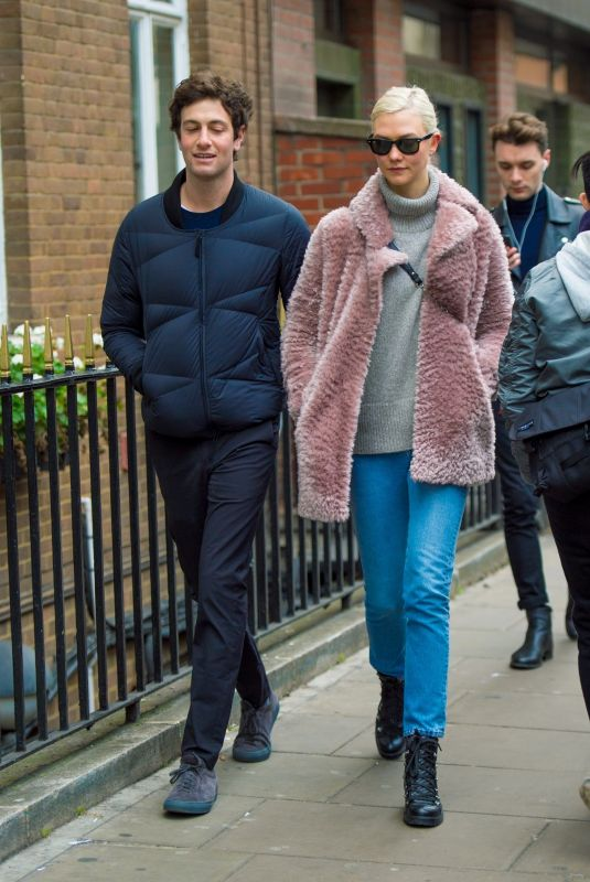 KARLIE KLOSS and Josh Kushner Out in London 12/02/2017
