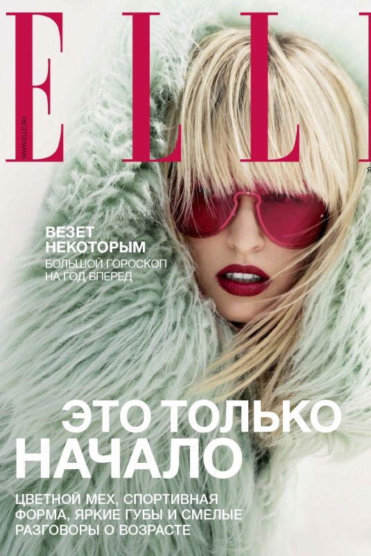 KAROLINA KURKOVA in Elle Magazine, Russia January 2018