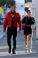 KARRUECHE TRAN and Victor Cruz Out in Hollywood 12/16/2017