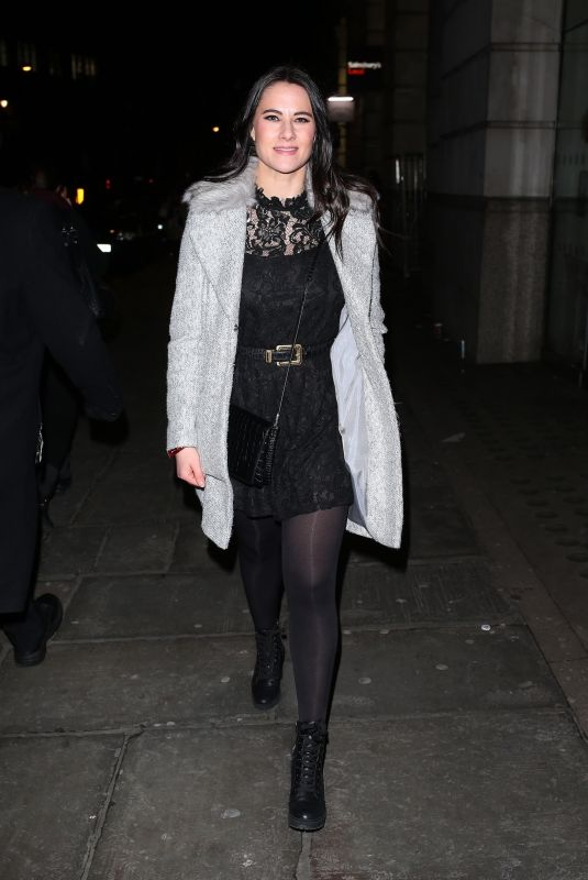 KAT SHOOB Arrives at Global Radio Christmas Party in London 12/13/2017