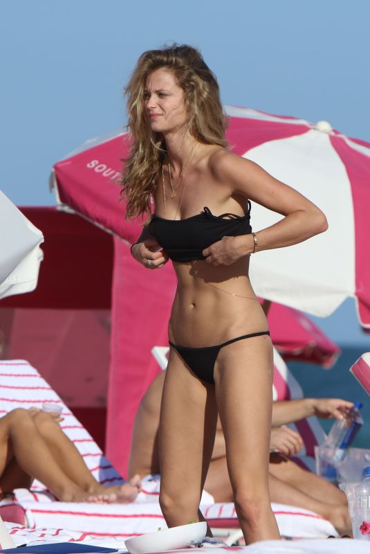 KATE BOCK in Bikini at a Beach in Miami 12/08/2017