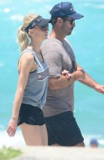 KATE KENDALL and Andrew Johns Out at Bondi Beach 12/27/2017