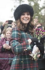 KATE MIDLETON and MEGHAN MARKLE at Christmas Day Service in King