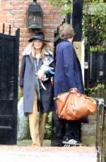KATE MOSS LeavesHer Home in London 12/19/2017