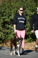 KATE UPTON Out with Her Dog in Beverly Hills 12/19/2017