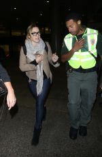 KATE WINSLET at LAX Airport in Los Angeles 12/02/2017