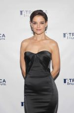 KATIE HOLMES at Wag Dog 20th Anniversary Screening y in New York 12/04/2017