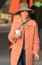 KATIE HOLMES Out for Coffee in New York 11/30/2017