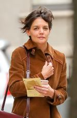 KATIE HOLMES Out in New York 12/06/2017
