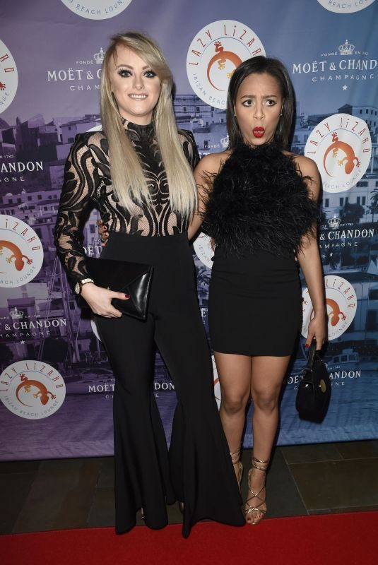 KATIE MCGLYNN and TISHA MERRY at Lazy Lizzard Club Launch in Manchester 12/06/2017