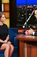 KATY TUR at Late Show with Stephen Colbert 11/12/2017
