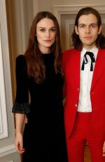 KEIRA KNIGHTLEY and James Righton at mothers2mothers Winter Fundraiser in London 11/29/2017