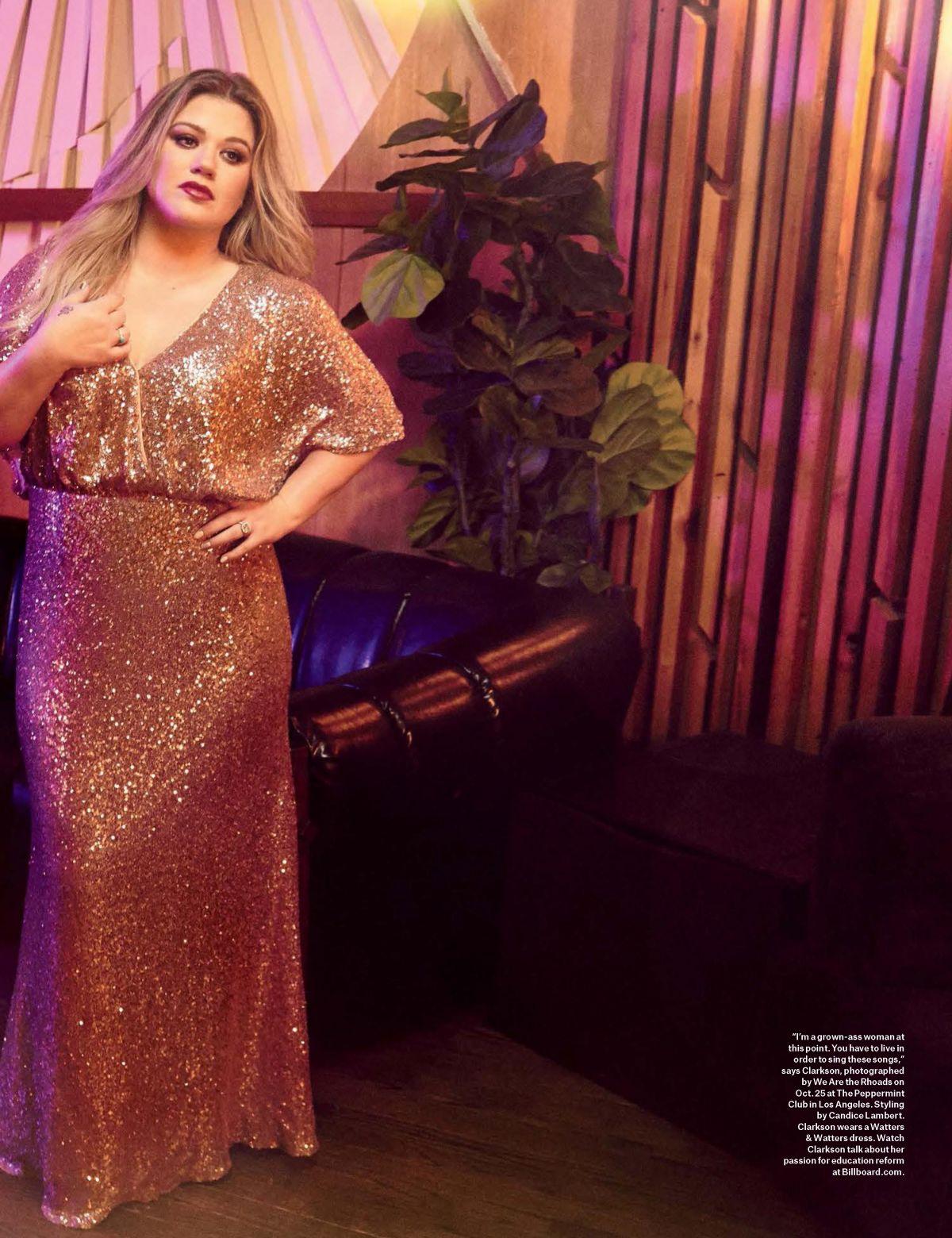 KELLY CLARKSON in Billboard Magazine, December 2017 – HawtCelebs