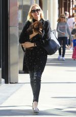 KELLY TURHERFORD Out for Lunch with Her Dog in Beverly Hills 12/02/2017
