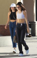 KENDALL JENNER and KAIA GERBER Out in Beverly Hills 12/12/2017