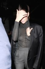 KENDALL JENNER Leaves Avalon Club in Hollywood 12/07/2017
