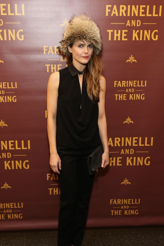 KERI RUSSELL at Farinelli and the King Broadway Opening Night in New York 12/17/2017