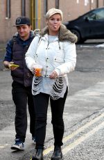 KERRY KATONA Arrives at Middleton Arena in Manchester 12/16/2017