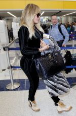 KHLOE KARDASHIAN at Los Angeles International Airport 12/29/2017