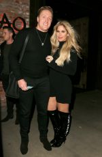 KIM ZOLCIAK Out for Dinner at Tao in Hollywood 12/20/2017