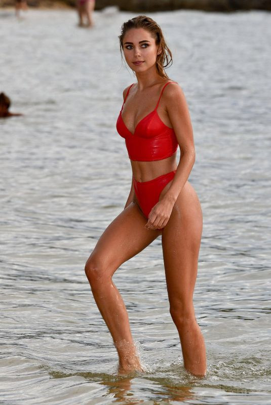 KIMBERLEY GARNER in Bikini Paddleboarding in Caribbean 12/23/2017